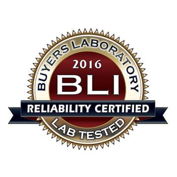 BLI 2016 Reliability certified - luotettavuussertifikaatti