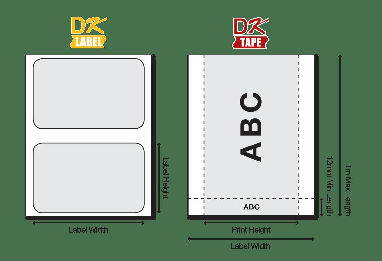DK-rullatarroja on saatavana useina eri leveyksinä