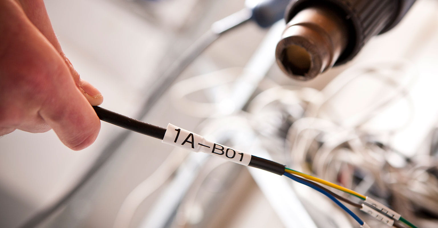 Brother heat shrink tube applied around a cable