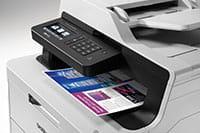 MFC-L3750CDW tulostaa väritulosteita, jotka huomataan