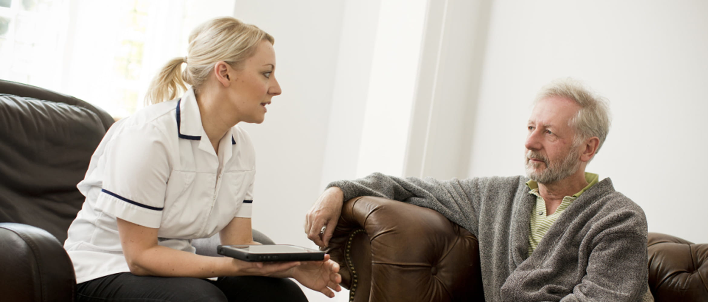 Home healthcare worker and patient
