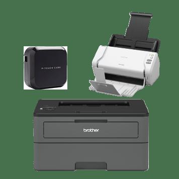 P-touch CUBE, ADS-2200-skanneri ja HL-L2375DW-tulostin