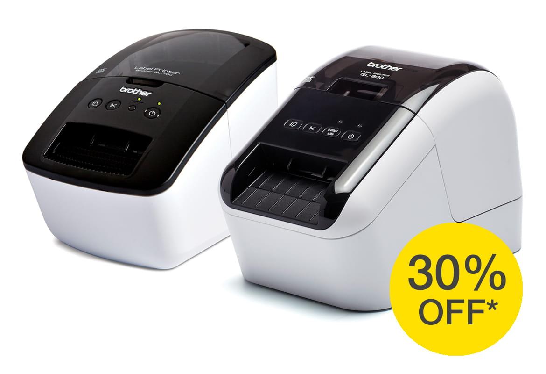 QL700- ja QL800-etikettitulostimet 30 % alennuksessa
