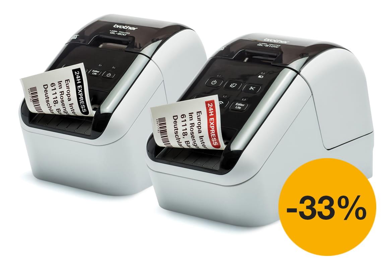 QL-800- ja QL-810Q-etikettitulostimet nyt kampanjahintaan!