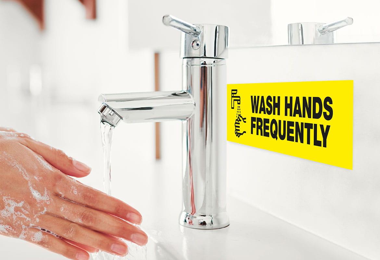 Pese kädet usein