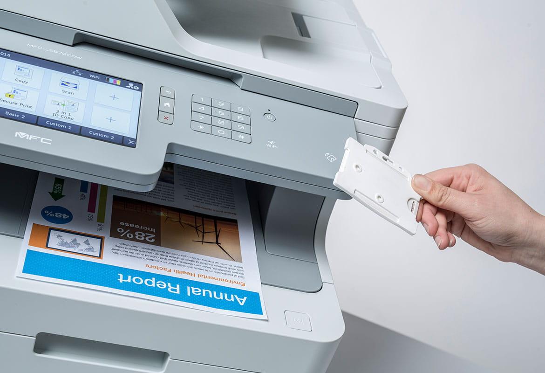 Secure Print+ ja NFC