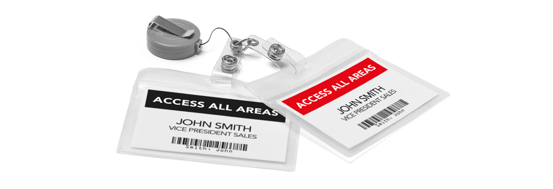 Etikettitarrat soveltuvat hyvin nimikorteiksi