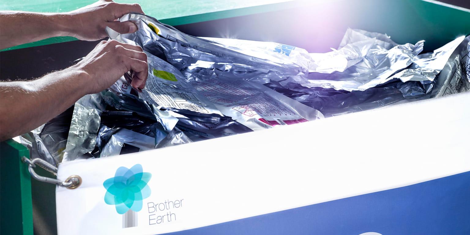 Kierrätä Brother värikasettisi