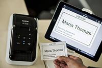 Marialle tulostettu nimikortti