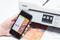 MFCJ1300DW tulostaa älypuhelimestasi