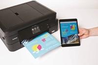 Tabletilla tulostettu värituloste ja DCP-J785DW