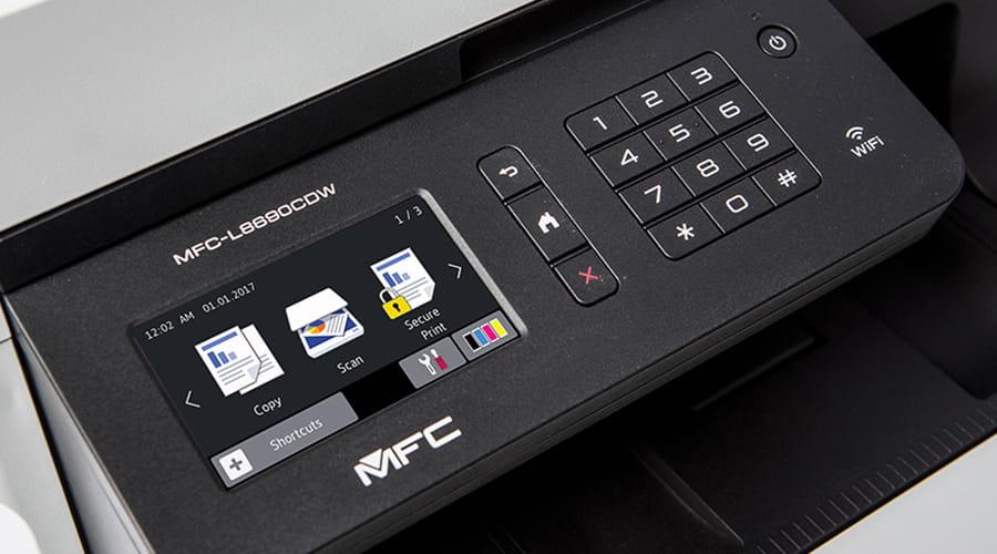 MFC-L8690CDW-tulostimen näyttö