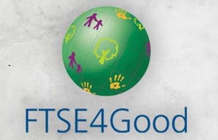FTSE4Good -logossa vihreä maapallo