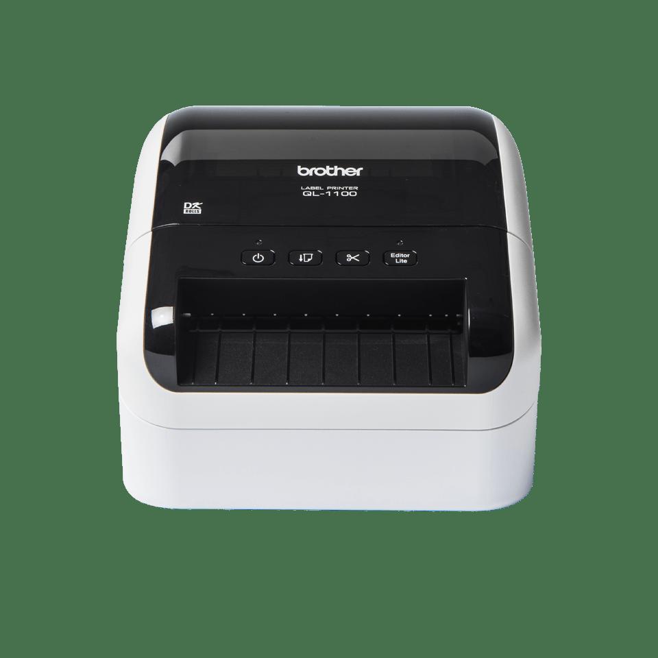 QL-1100 etikettitulostin leveiden osoitetarrojen tulostukseen