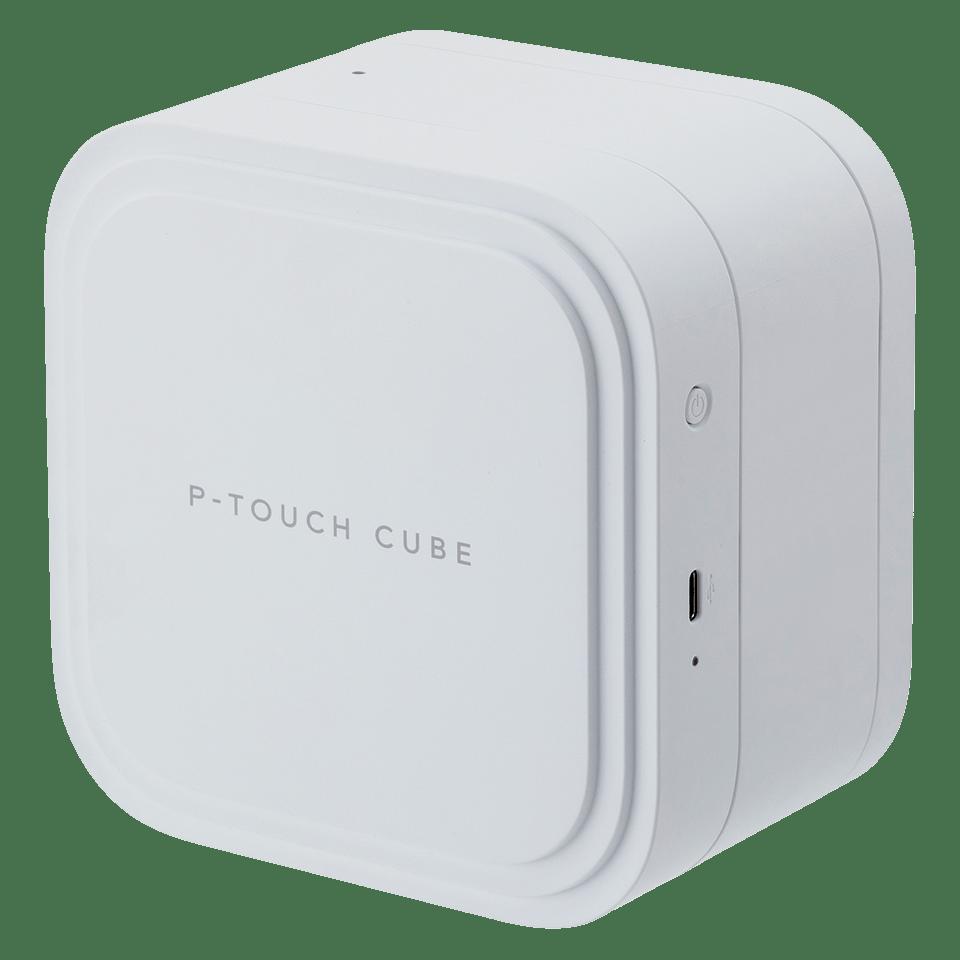 P-touch CUBE Pro (PT-P910BT) -tarratulostin ladattavalla akulla ja Bluetoothilla 4