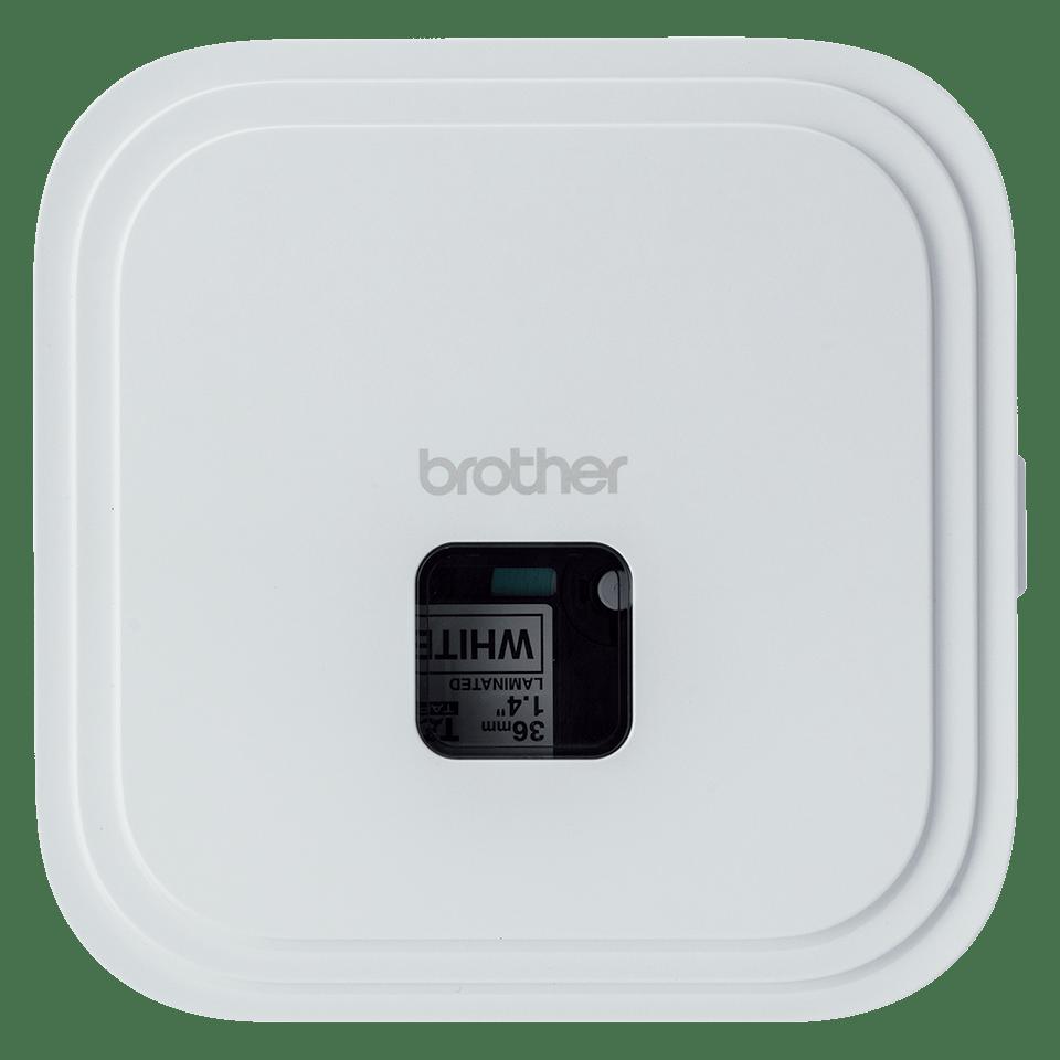 P-touch CUBE Pro (PT-P910BT) -tarratulostin ladattavalla akulla ja Bluetoothilla 3