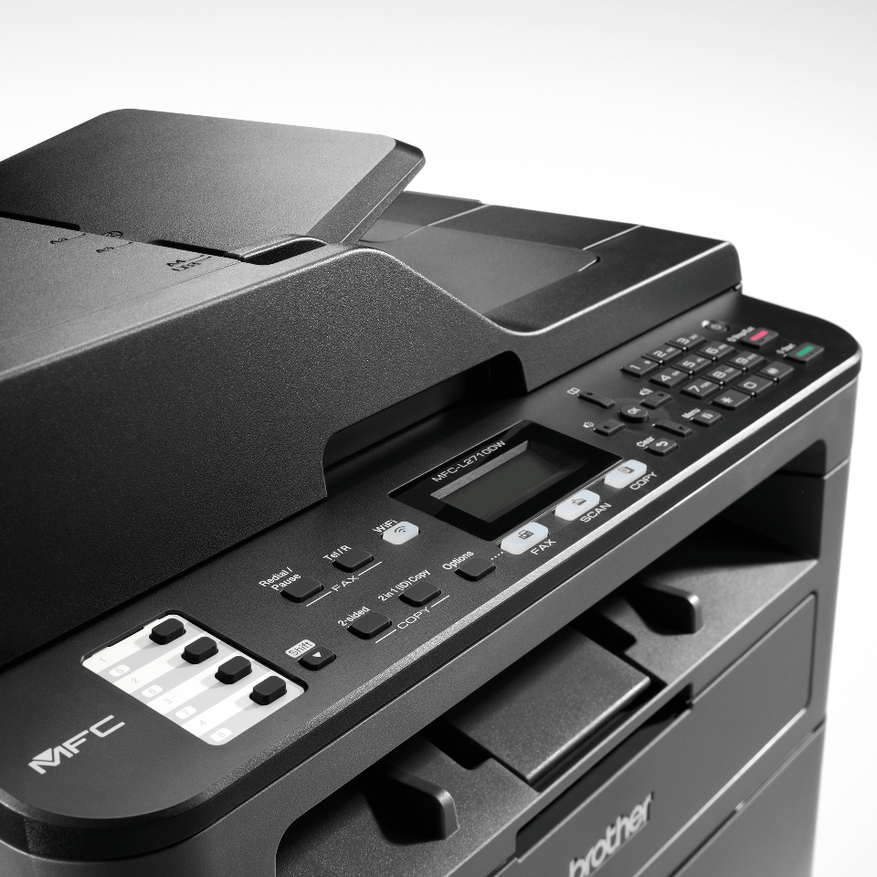 Brotherin kompakti MFC-L2710DW lasermonitoimilaite faksilla 5