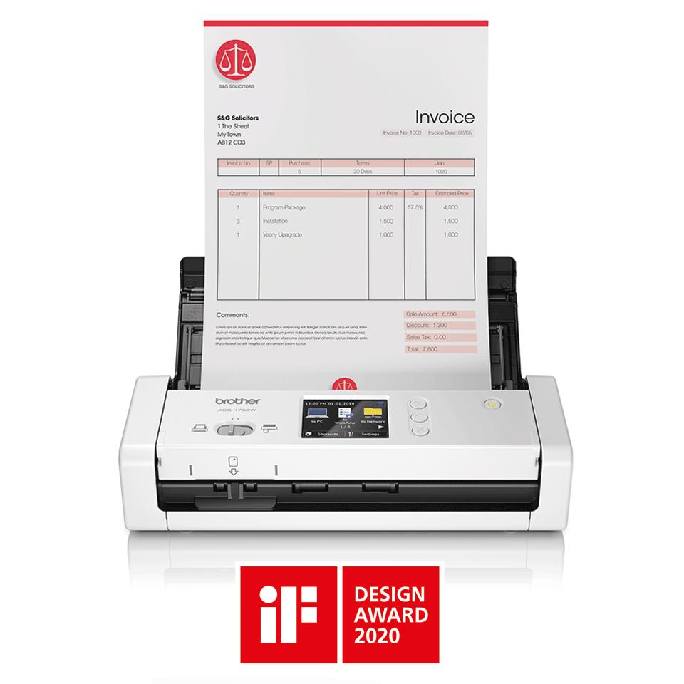 ADS-1700W Näppärä ja kompakti langaton asiakirjaskanneri  4
