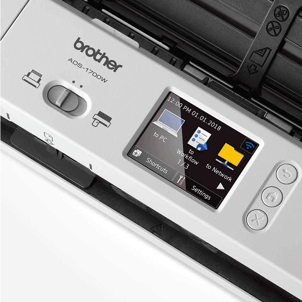 ADS-1700W Näppärä ja kompakti langaton asiakirjaskanneri  8