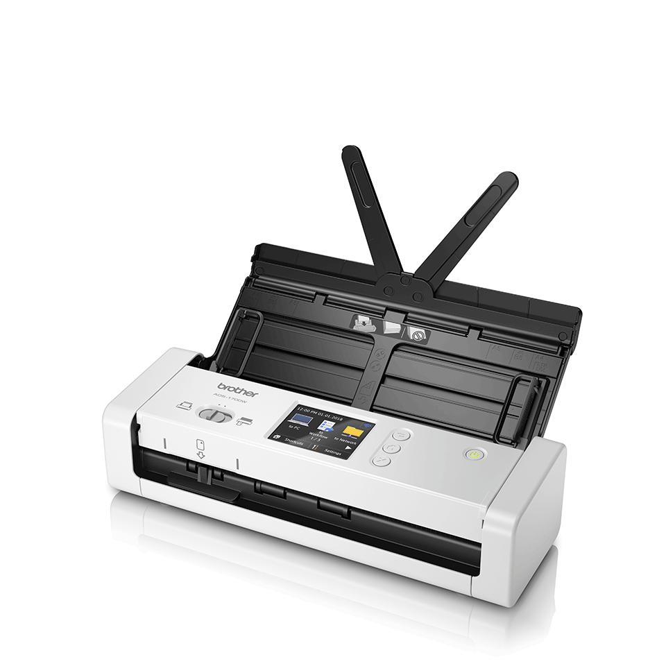 ADS-1700W Näppärä ja kompakti langaton asiakirjaskanneri  2