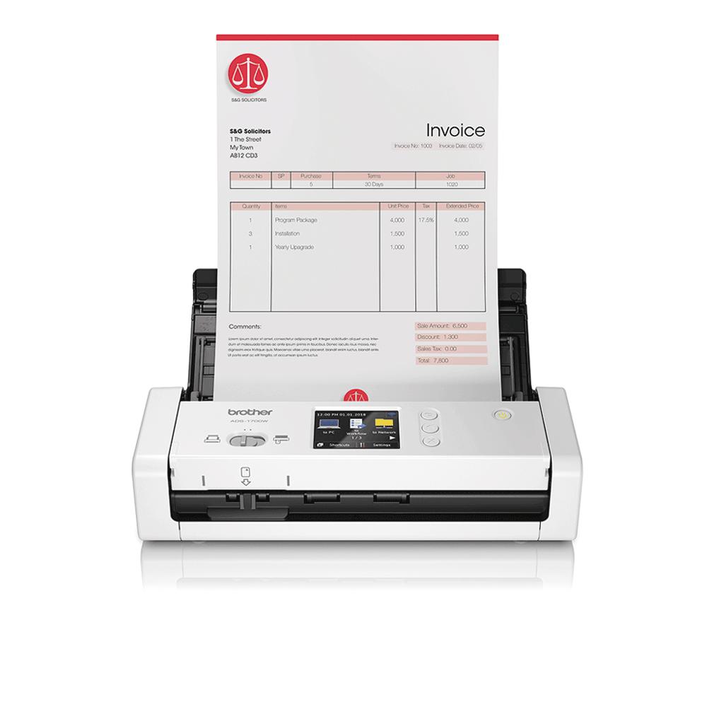 ADS-1700W Näppärä ja kompakti langaton asiakirjaskanneri