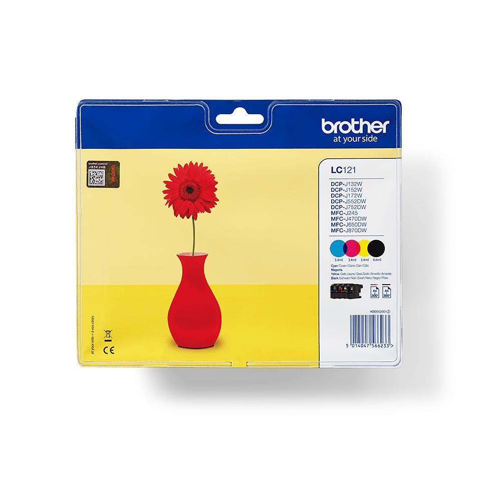 Brotherin alkuperäinen LC121VALBPDR 4-väripakkaus