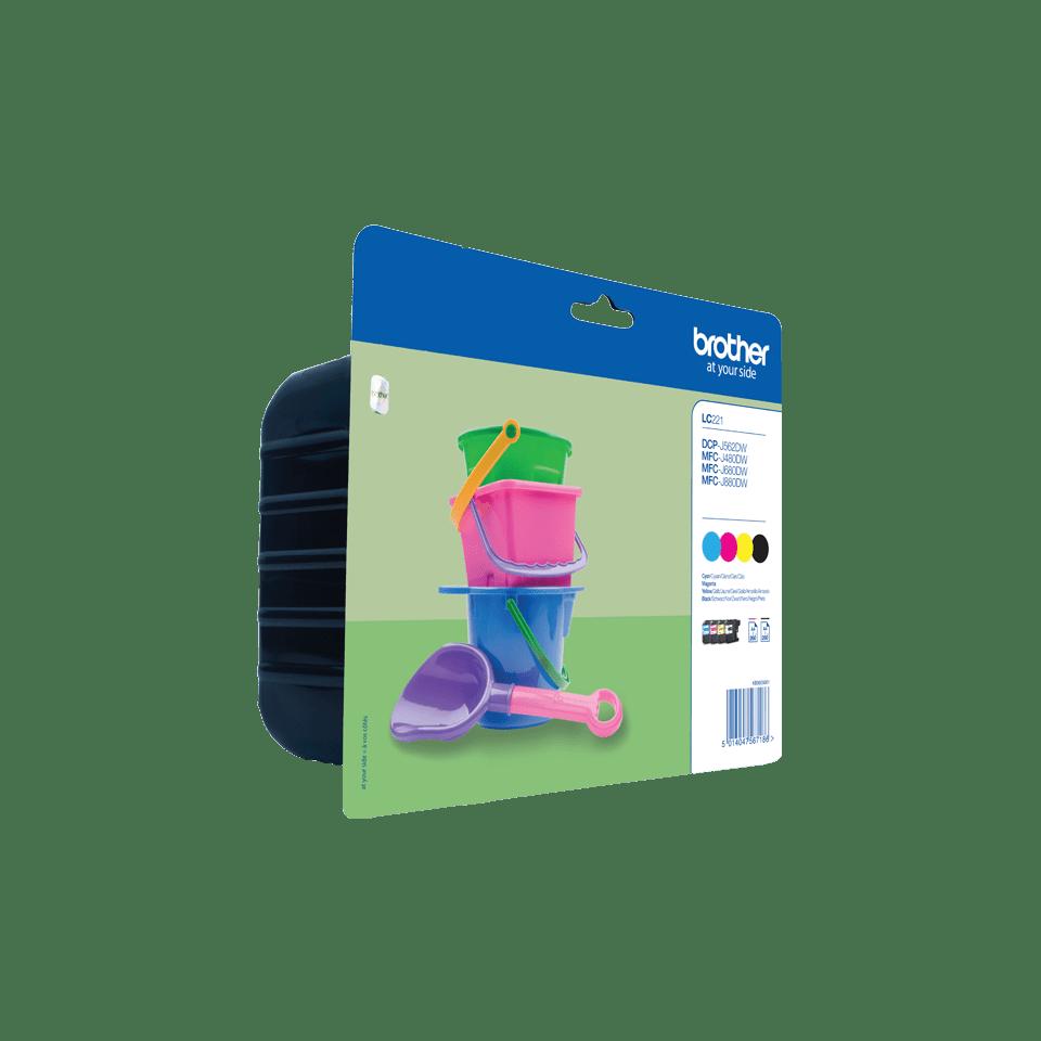 Brotherin alkuperäinen LC221VALBPDR 4-väripakkaus