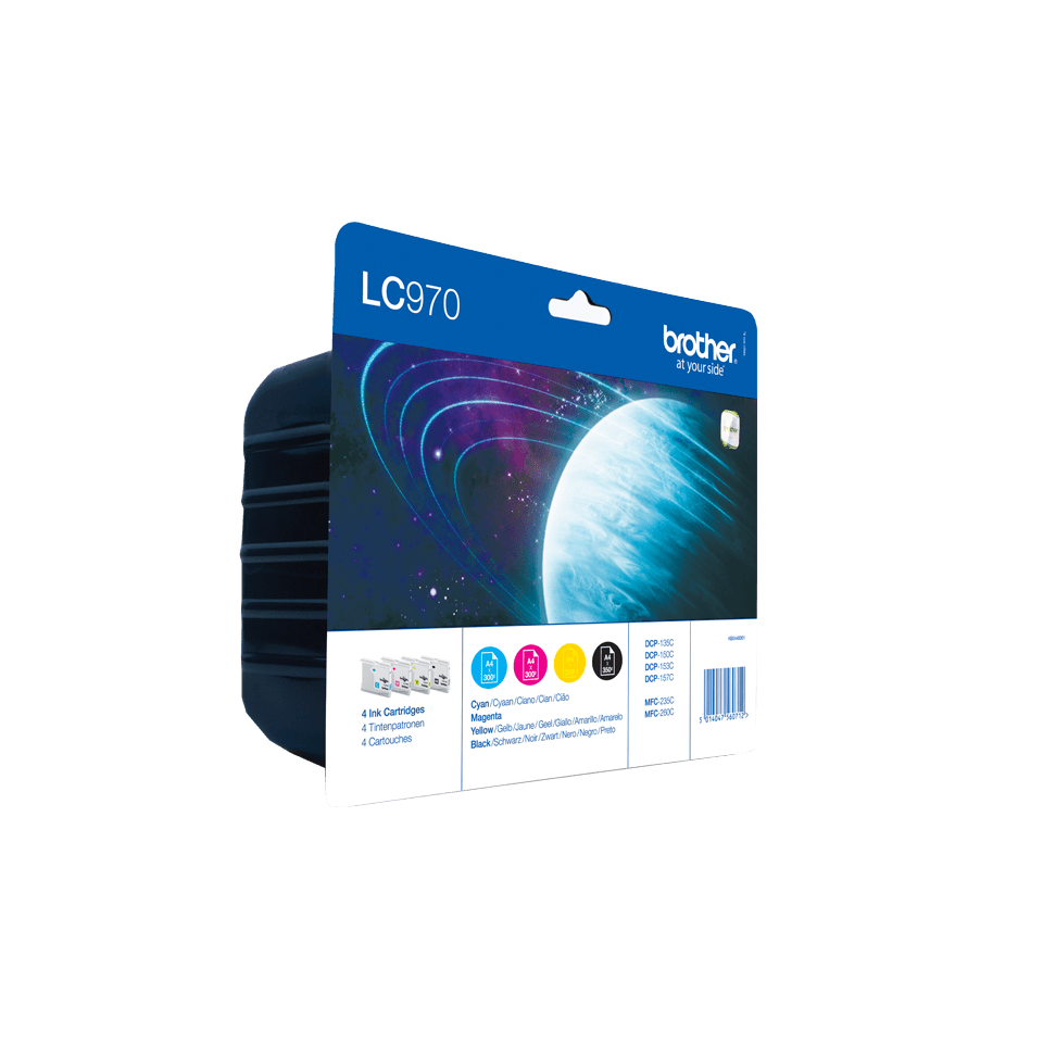 Brotherin alkuperäinen LC970VALBPDR 4-väripakkaus 2