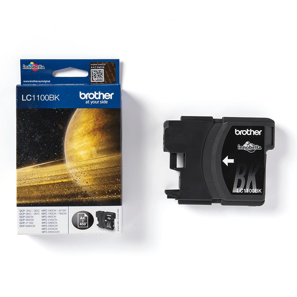Brotherin alkuperäinen LC1100BK värikasetti - Musta 2