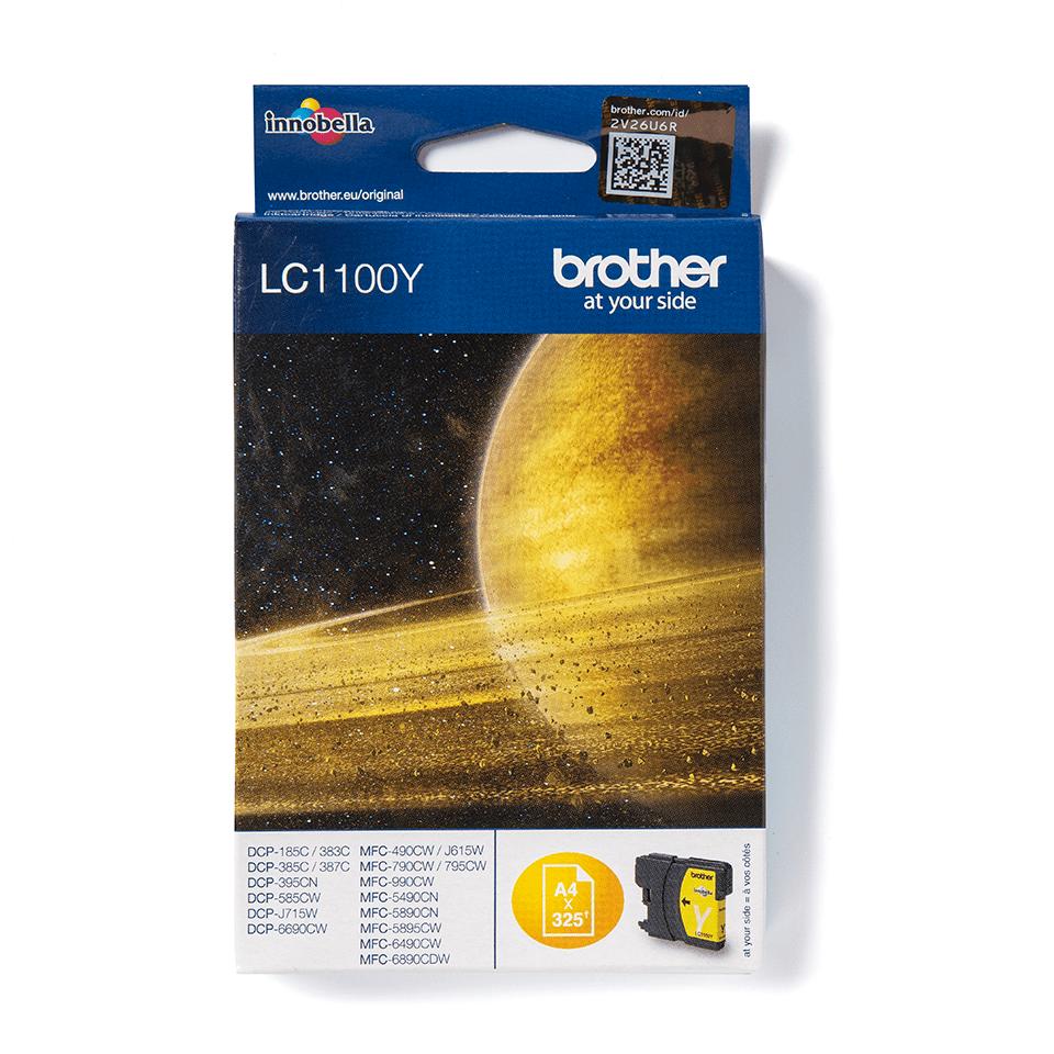 Brotherin alkuperäinen LC1100Y värikasetti - Keltainen