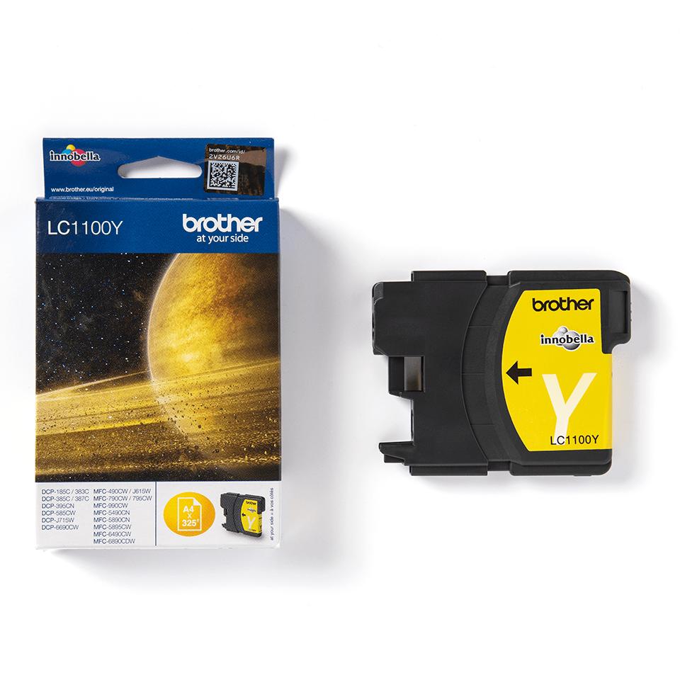 Brotherin alkuperäinen LC1100Y värikasetti - Keltainen 3