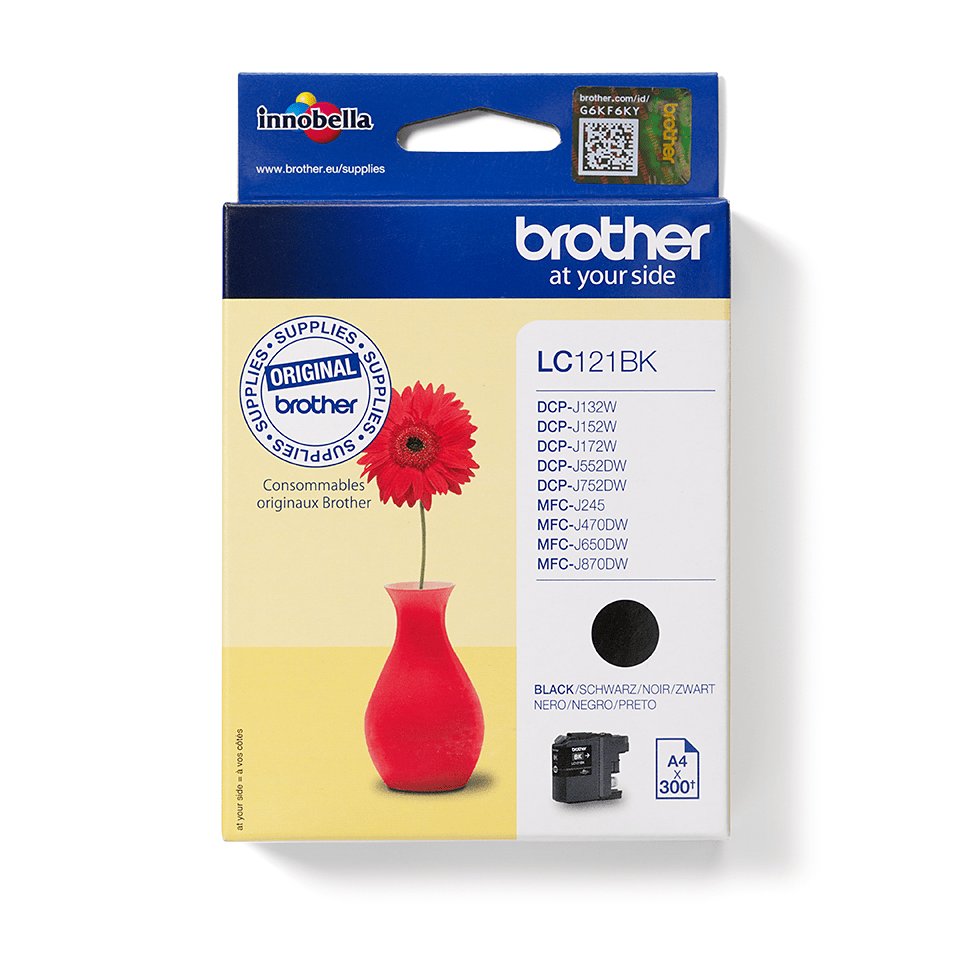 Brotherin alkuperäinen LC121BK värikasetti - Musta