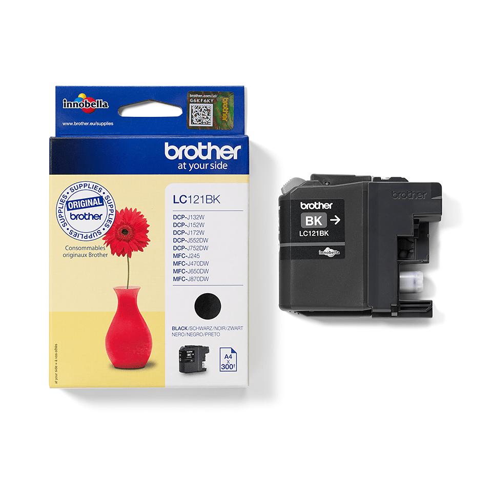 Brotherin alkuperäinen LC121BK värikasetti - Musta 2