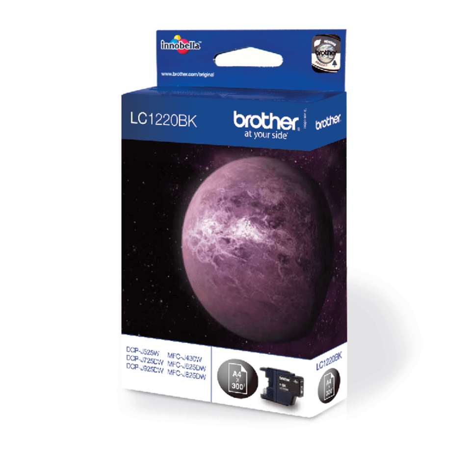 Brotherin alkuperäinen LC1220BK-värikasetti – Musta 2