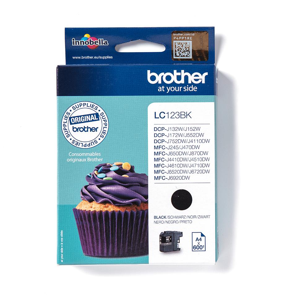 Brotherin alkuperäinen LC123BK värikasetti - Musta