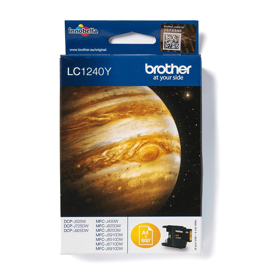 Brotherin alkuperäinen LC1240Y värikasetti – Keltainen 2