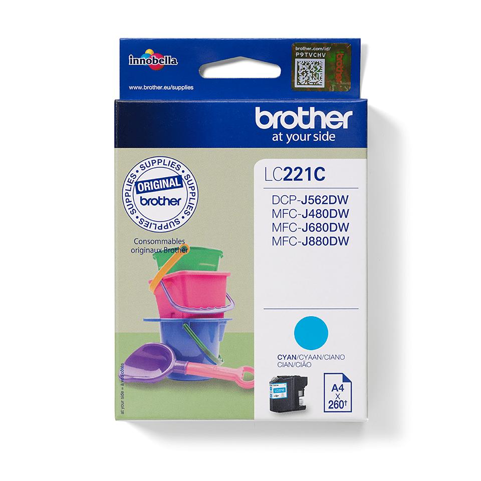 Brotherin alkuperäinen LC221C-värikasetti – Syaani