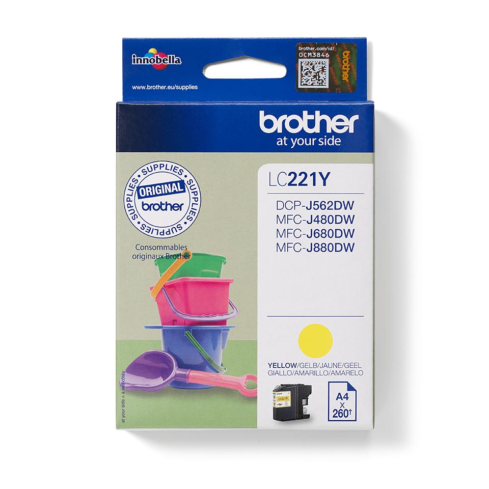 Brotherin alkuperäinen LC221Y-värikasetti – Keltainen