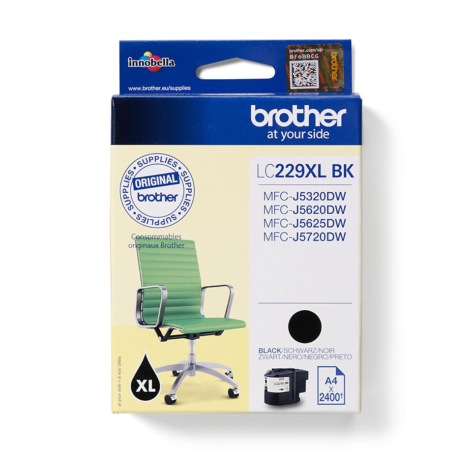 Brotherin alkuperäinen LC229XLBK-värikasetti – Musta