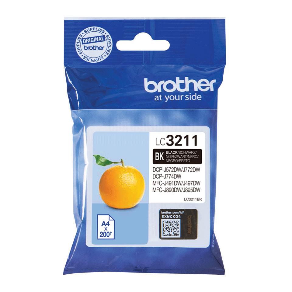 Brotherin alkuperäinen LC3211BK-värikasetti - Musta 2