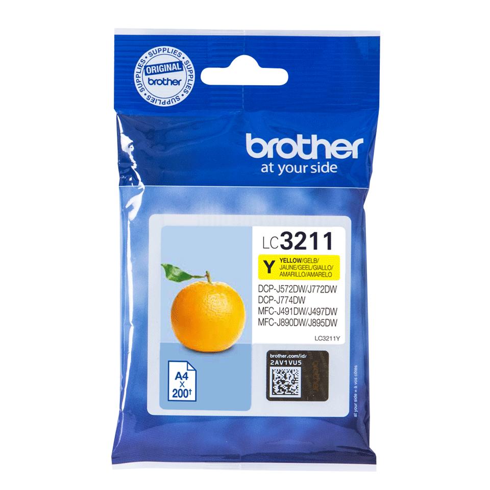 Brotherin alkuperäinen LC3211Y-värikasetti - Keltainen