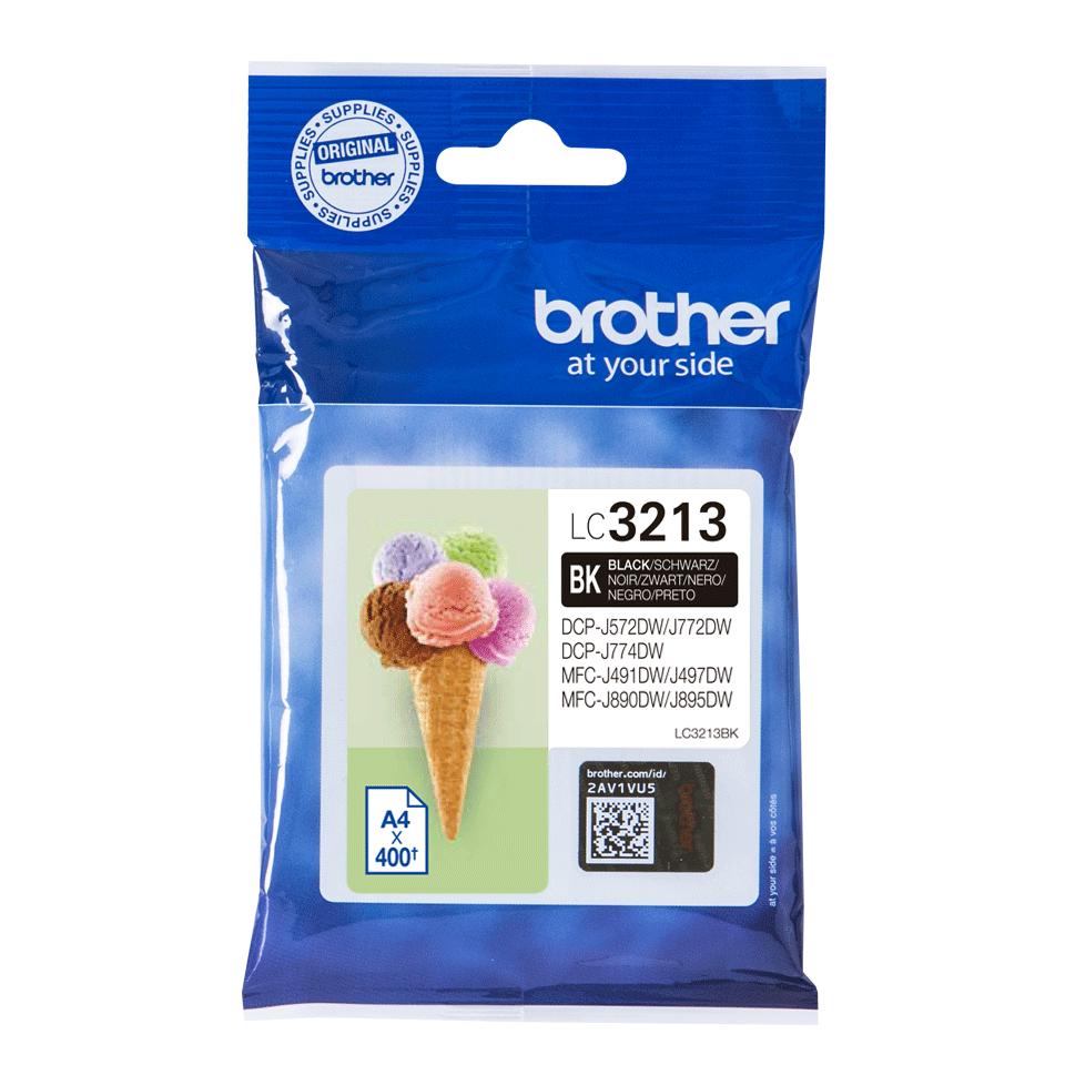Brotherin alkuperäinen LC3213BK-värikasetti - Musta  2