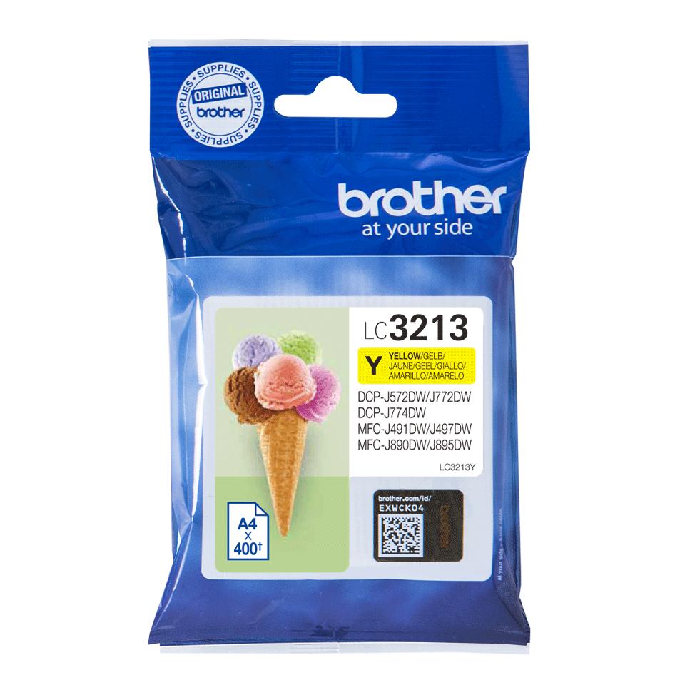 Brotherin alkuperäinen LC3213Y-värikasetti - Keltainen  2