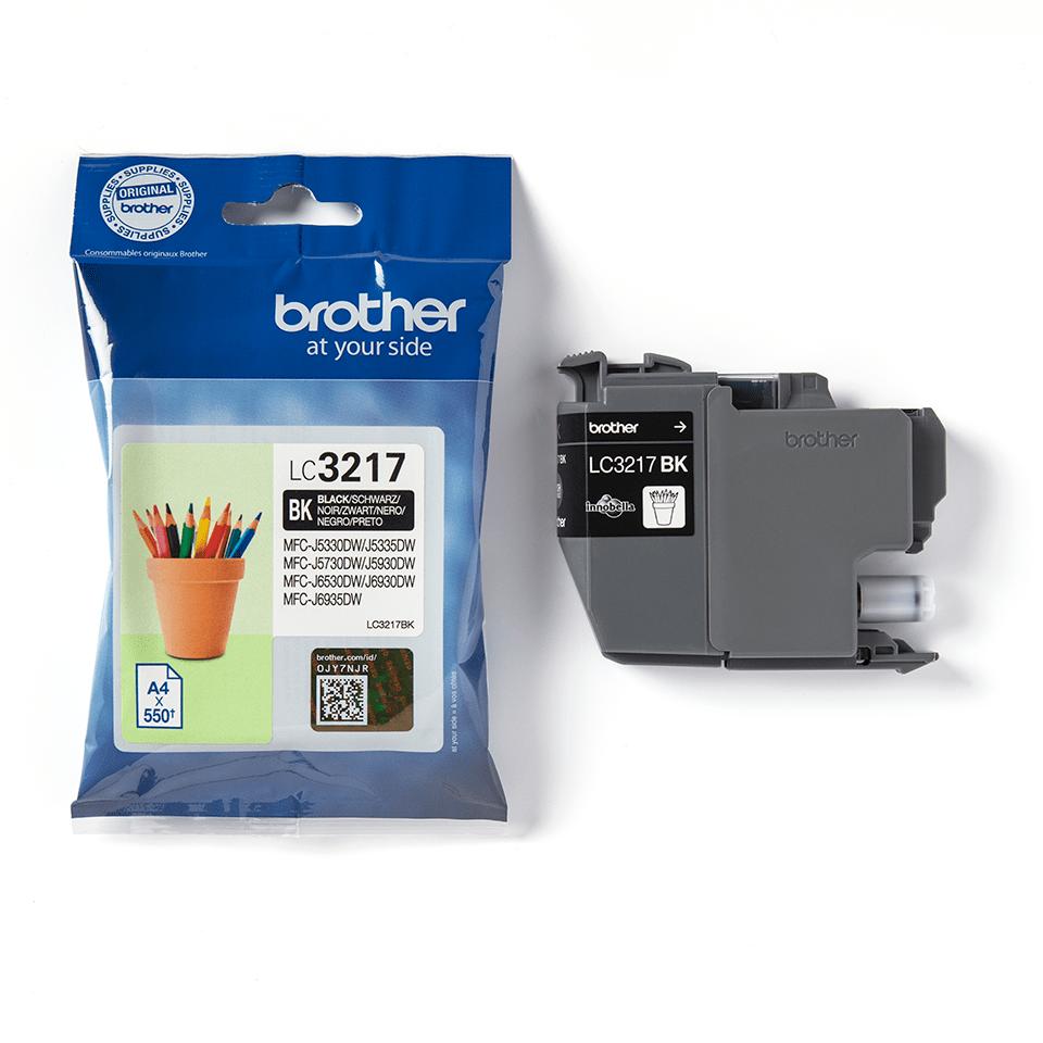 Brotherin alkuperäinen LC3217BK värikasetti – Musta 3