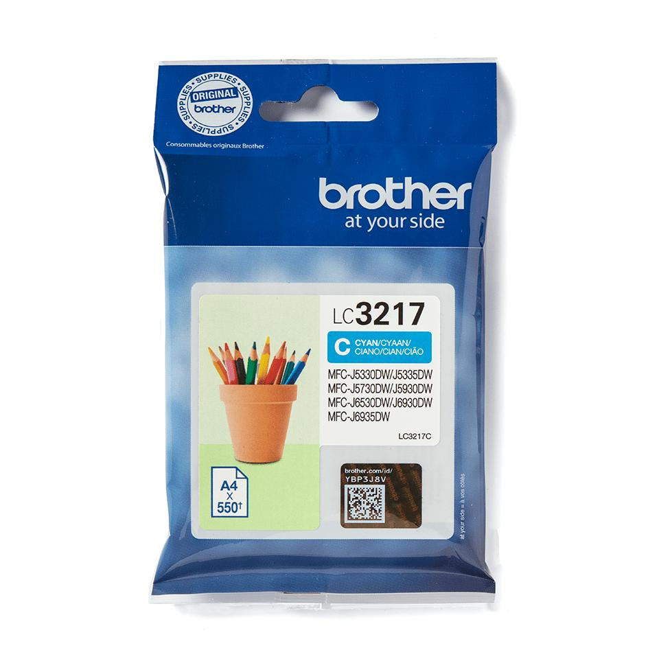 Brotherin alkuperäinen LC3217C värikasetti – Syaani