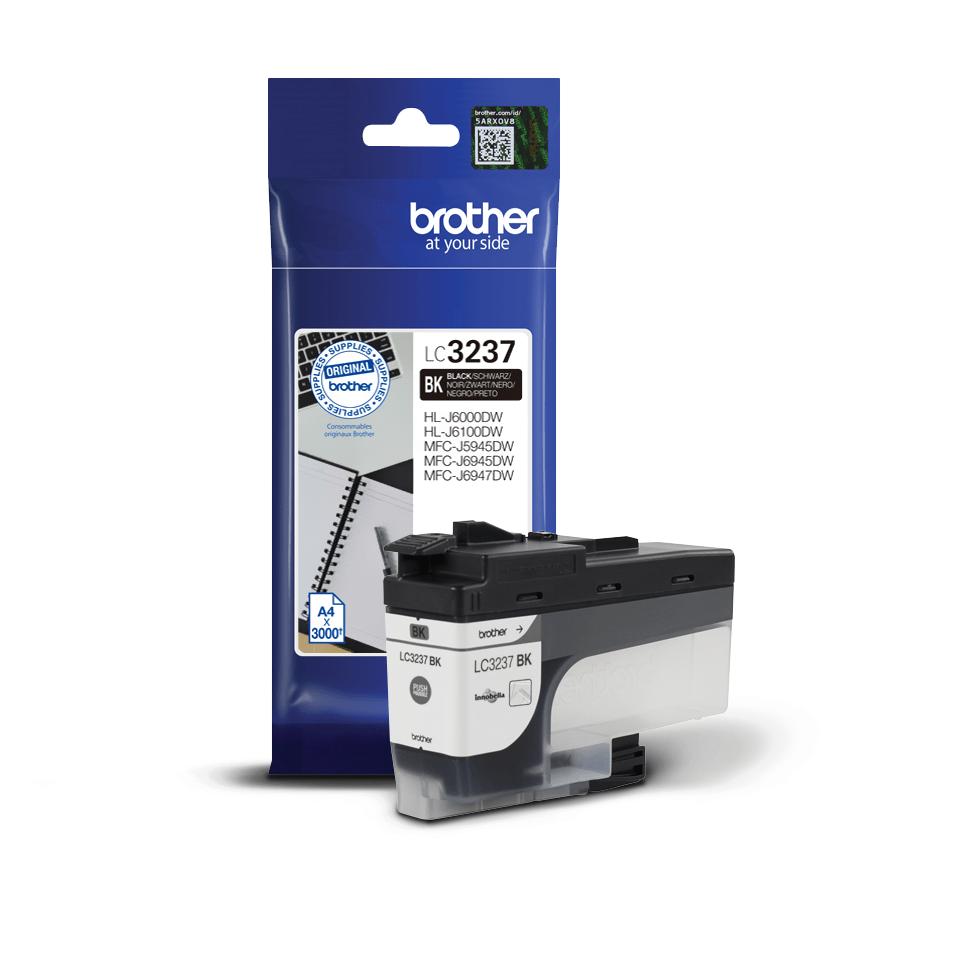 Brotherin alkuperäinen LC3237BK-värikasetti – Musta 3