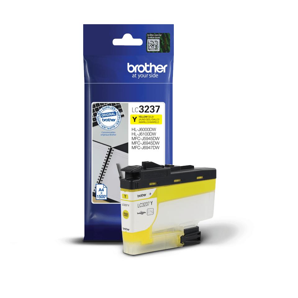 Brotherin alkuperäinen LC3237Y-värikasetti – Keltainen 2