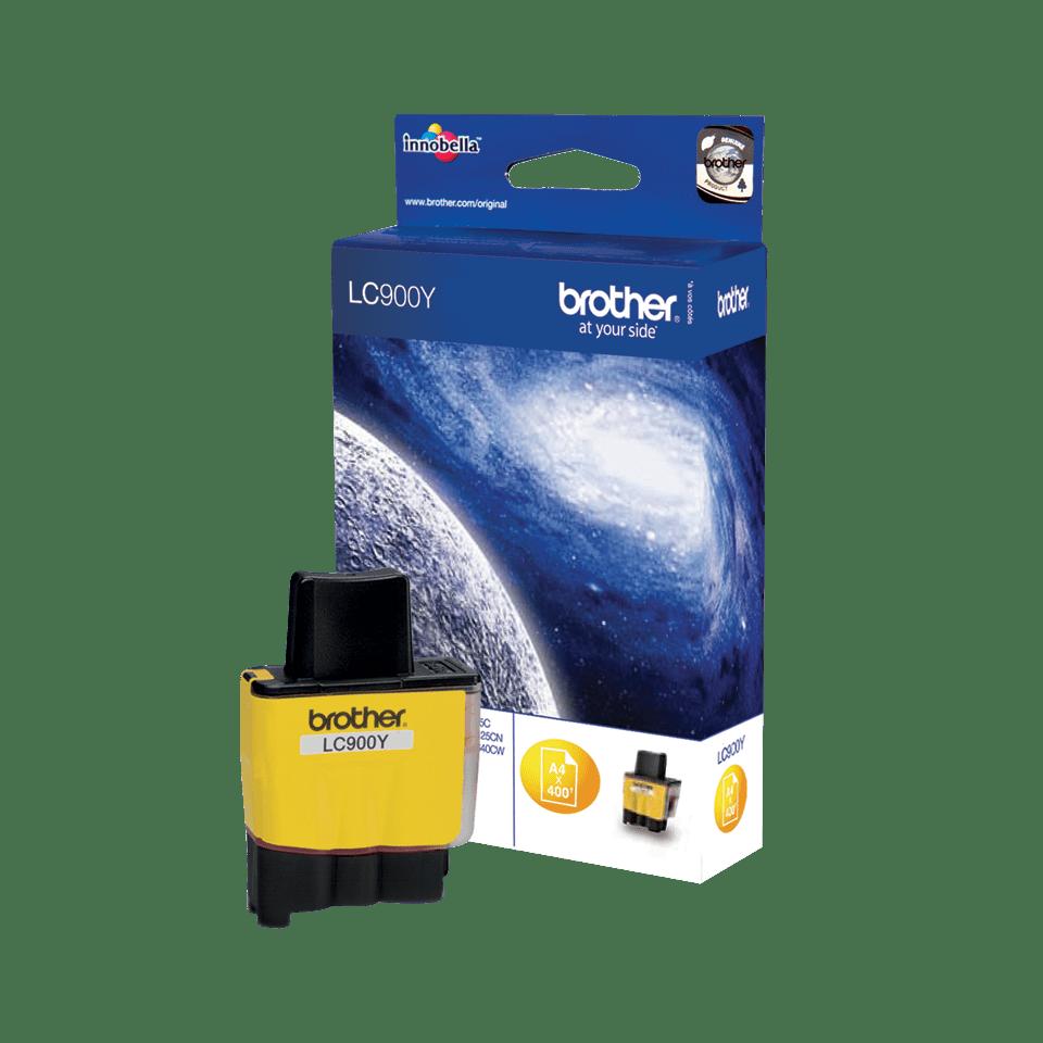 Brotherin alkuperäinen LC900Y-värikasetti – Keltainen 2