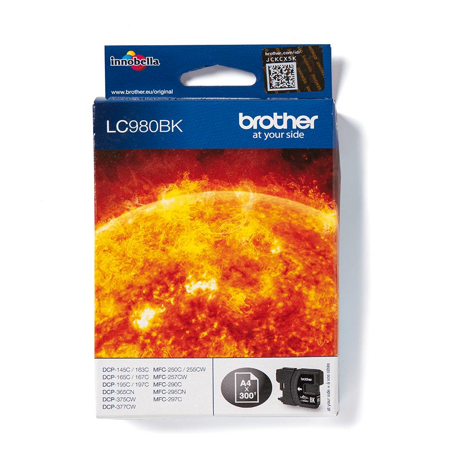 Brotherin alkuperäinen LC980BK värikasetti - Musta