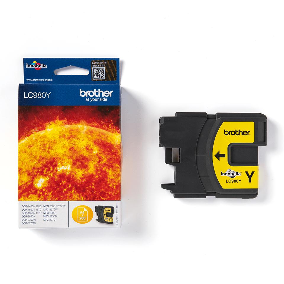 Brotherin alkuperäinen LC980Y-värikasetti – Keltainen 2